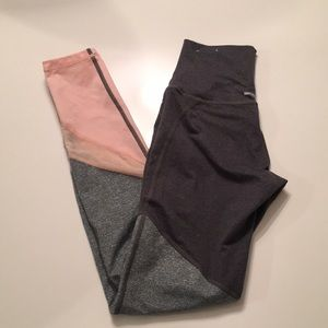 Aerie Color-block and Mesh Panel Tights